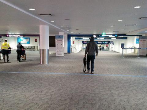 シドニー空港入国審査場入口