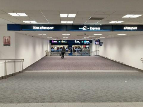 シドニー空港入国審査場のレーン