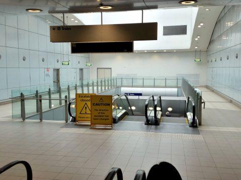 シドニー空港鉄道乗り場