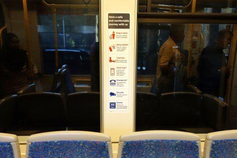 sydney-トラム車内の注意書き