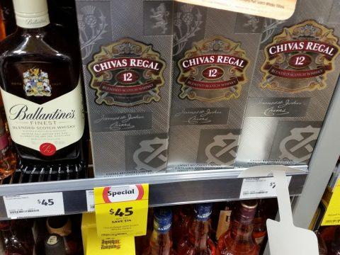 シドニーのスーパーColesのウイスキー
