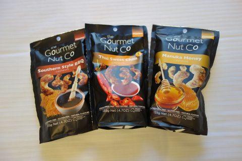 The-Gourmet-Nut-Companyの3つのフレーバー