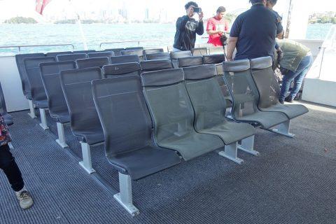 シドニー・フェリーの座席