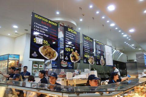 シドニー・フィッシュマーケットのメニュー