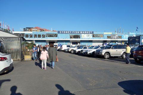 シドニー・フィッシュマーケットの駐車場
