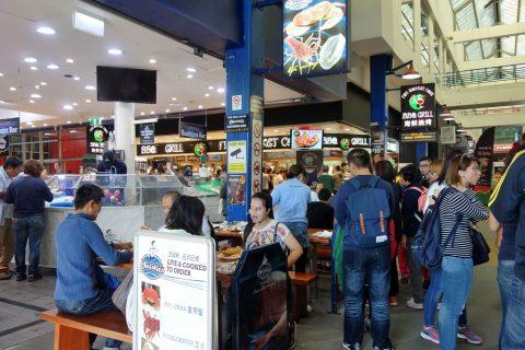 シドニー・フィッシュマーケットの混雑