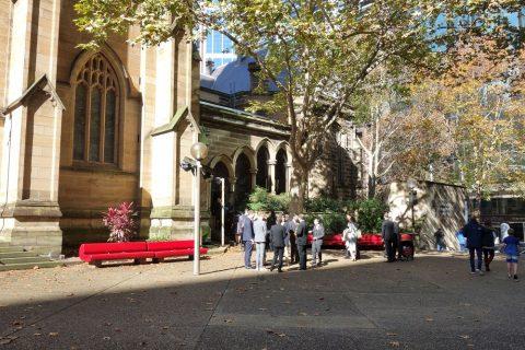 シドニーのSt.アンドリュース大聖堂前の公園