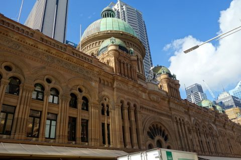 シドニーのクイーン・ヴィクトリア・ビルディングのドーム型の屋根