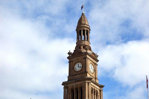 シドニー・タウンホールの時計台