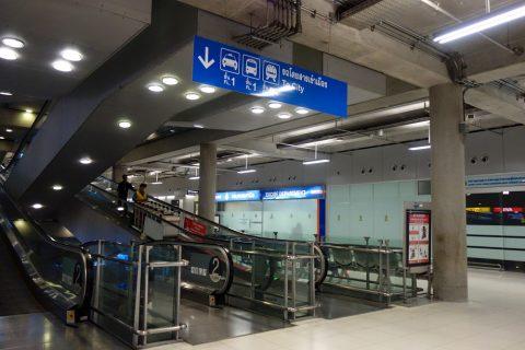 スワンナプーム国際空港の地下へ