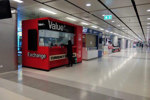 スワンナプーム国際空港の両替商が集う場所