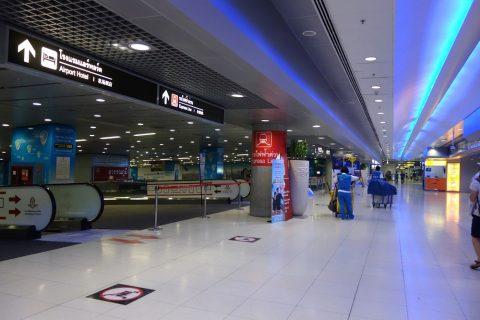 スワンナプーム国際空港の両替商エリア
