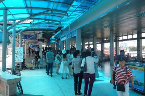 Chaophraya-express-boat乗り場のチケット売場