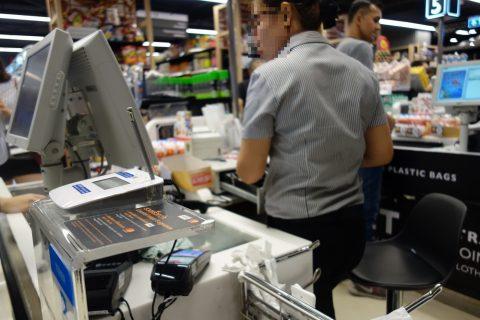 バンコクのスーパーでクレジットカード