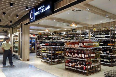central-food-hallの中にあるアルコール専門コーナー