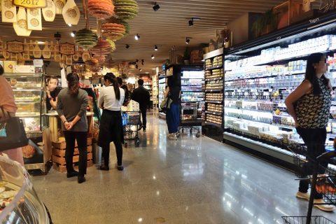 バンコクの広いスーパー