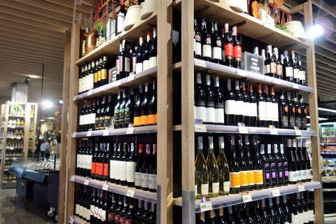 central-food-hallのワインコーナー