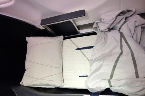マレーシア航空A330ビジネスクラスのベッドの寝心地