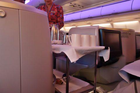 マレーシア航空ビジネスクラスKL~成田ドリンクサービス