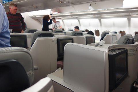 マレーシア航空ビジネスクラス機内