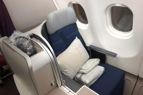 マレーシア航空A330ビジネスクラスKL~成田シート
