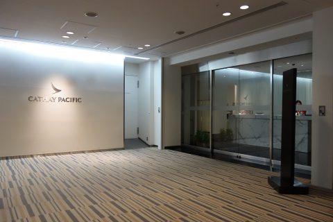 成田空港キャセイパシフィックラウンジエントランス