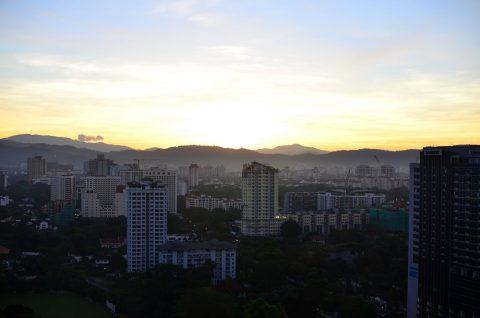 DoubleTree-by-Hilton-Kuala-Lumpurからの眺望