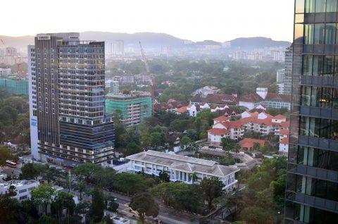 DoubleTree-by-Hilton-Kuala-Lumpurからの景色