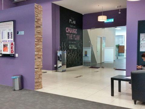 クアラルンプールのエニタイムフィットネスの事務室
