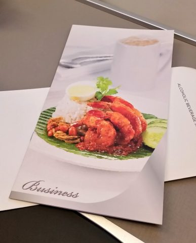 マレーシア航空機内食chef-on-callメニュー