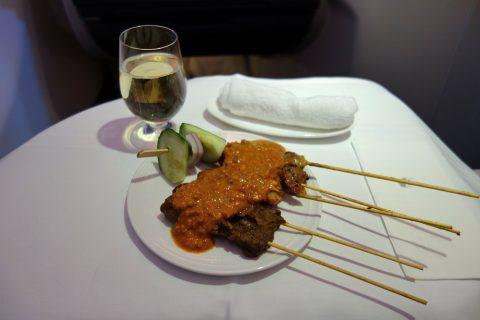 マレーシア航空ビジネスクラスのサテー