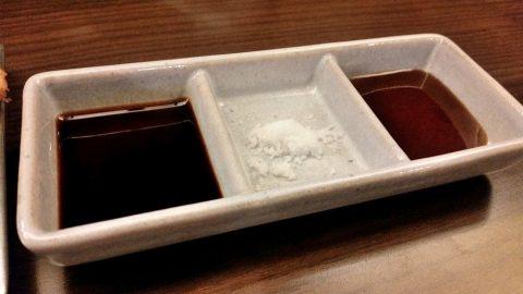 江古田のそば屋「嵐山」串揚げのソース