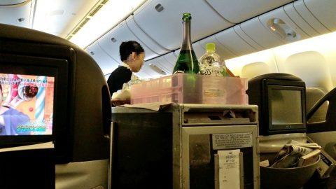 JALビジネスクラス機内サービス
