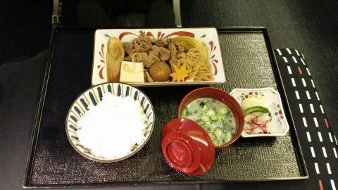 JALビジネスクラス和食の台の物