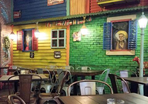 la-boca-latino-barのメキシカンな装飾