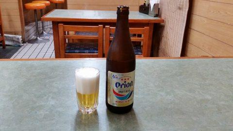 那覇で24時間営業の食堂「三笠」アルコールはオリオンビール