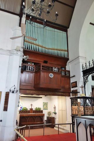 クアラルンプールSt.Mary's教会のパイプオルガン