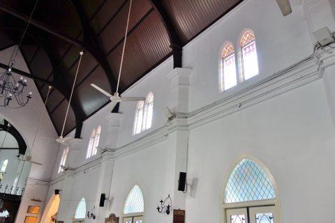 クアラルンプールSt.Mary's教会のシーリングファン