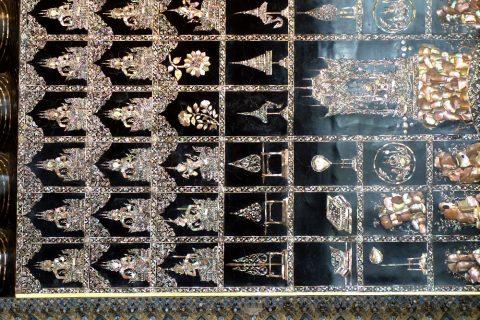 ワットポー大寝釈迦仏の足の裏の装飾