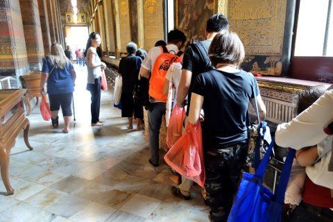 ワットポー大寝釈迦仏の反対側の回廊