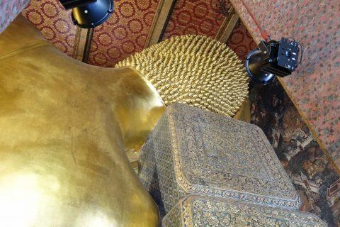 ワットポー大寝釈迦仏の後ろ姿