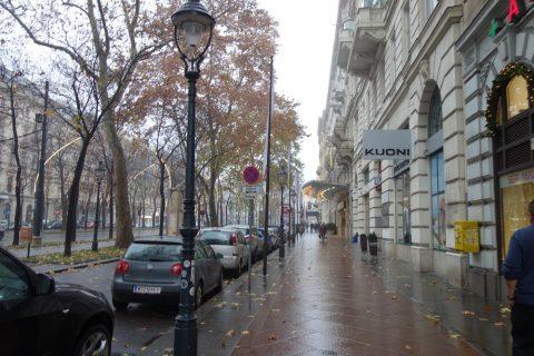 11月のウィーンは寒い