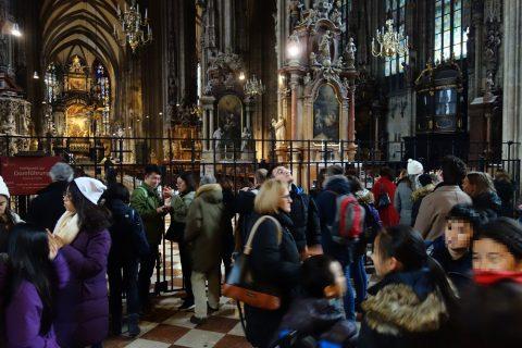 シュテファン大聖堂の混雑