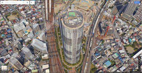 Google-mapで丸い建物