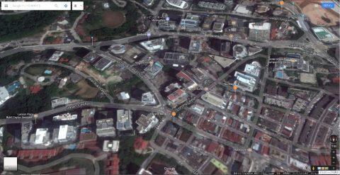 Google-mapマレーシアとベトナムの衛星画像