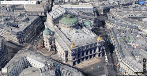Google-mapでパリのガルニエ