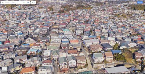 Google-mapで住宅街がクッキリ