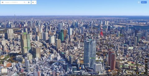 Google-mapで東京を見る