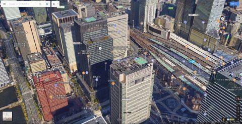 Google-mapで東京駅前