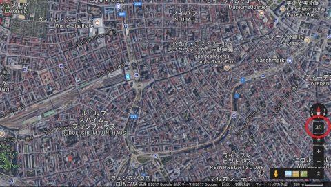 Google-mapの3D表示切替